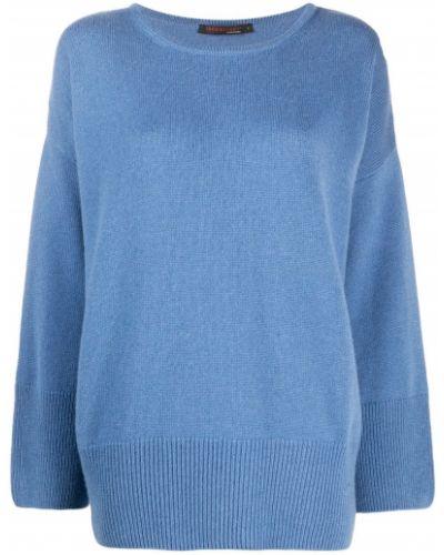 Кашемировый синий джемпер в рубчик оверсайз Incentive! Cashmere