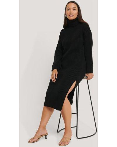 Вязаное платье миди - черное Na-kd