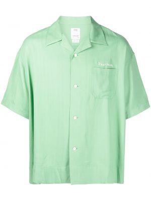 Zielona koszula krótki rękaw Visvim