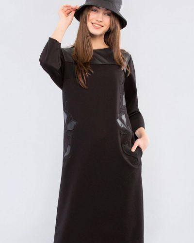 Повседневное черное повседневное платье Maxa