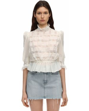 Рубашка без воротника с воротником-стойкой Marc Jacobs