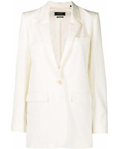 Однобортный белый пиджак с карманами Isabel Marant