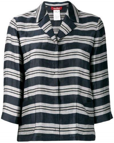 Рубашка в полоску - синяя Max Mara Studio