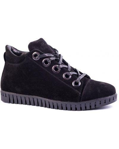 Замшевые полуботинки - черные Prime Shoes