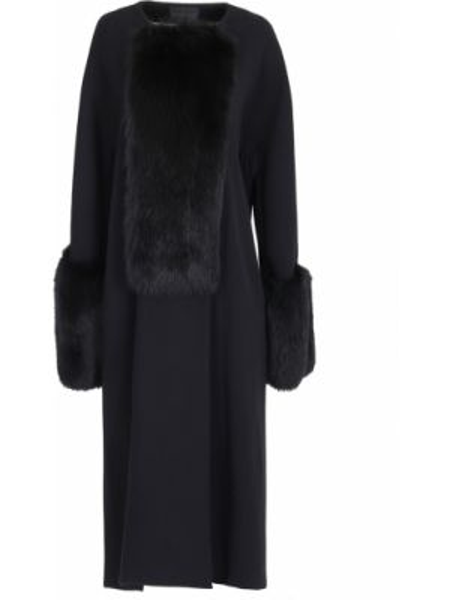 Шерстяное пальто - черное Vionnet