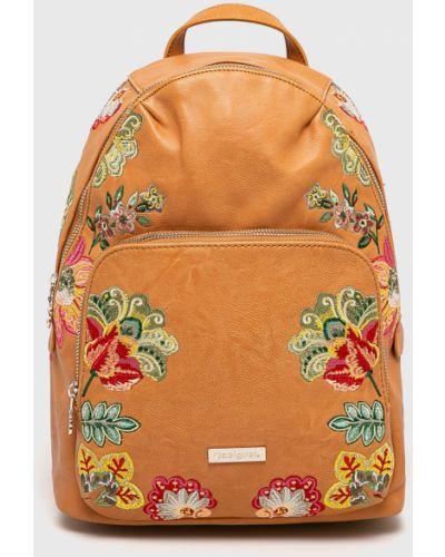 Кожаный рюкзак с вышивкой с отделениями Desigual