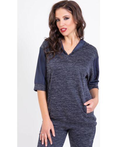 Повседневная с рукавами трикотажная блузка прима линия