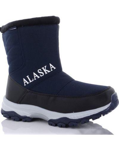 Синие сапоги из овчины Alaska