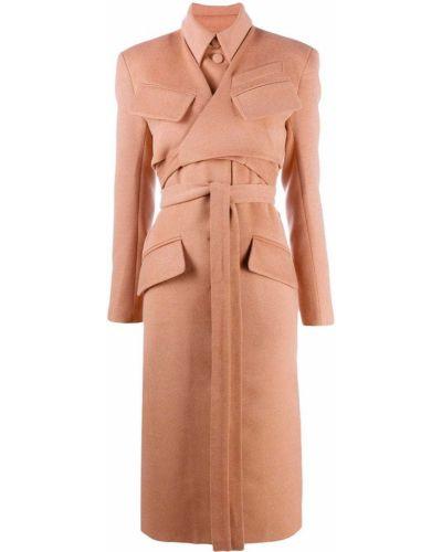 Оранжевое пальто классическое с воротником с карманами Matériel