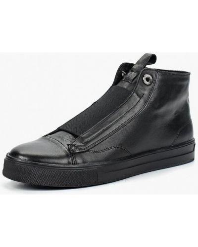 Высокие кеды черные кожаный Hcs
