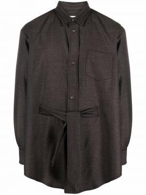 Шерстяная рубашка - коричневая SociÉtÉ Anonyme