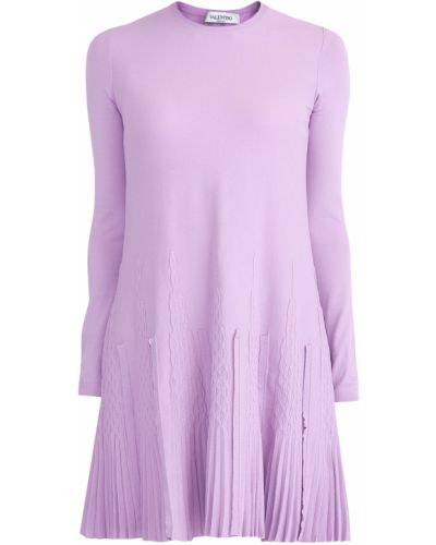 Платье мини с оборками трикотажное Valentino