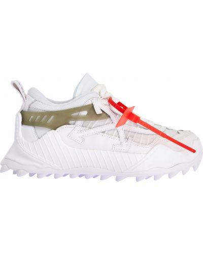 Замшевые массивные белые кроссовки Off-white
