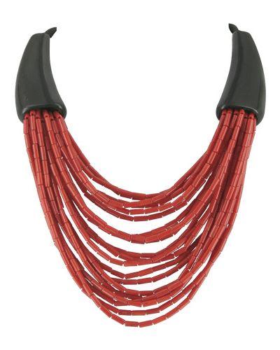 Ожерелье черное красный Nature Bijoux