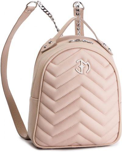 Skórzany plecak różowy Eva Minge