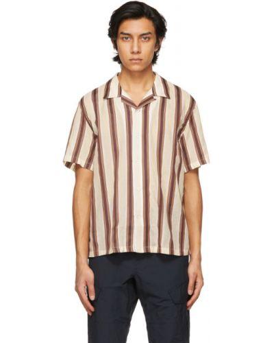 Czerwona koszula krótki rękaw bawełniana Rag & Bone