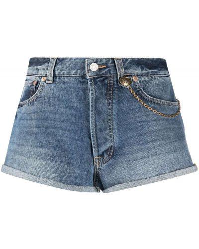 Синие хлопковые джинсовые шорты на молнии Givenchy