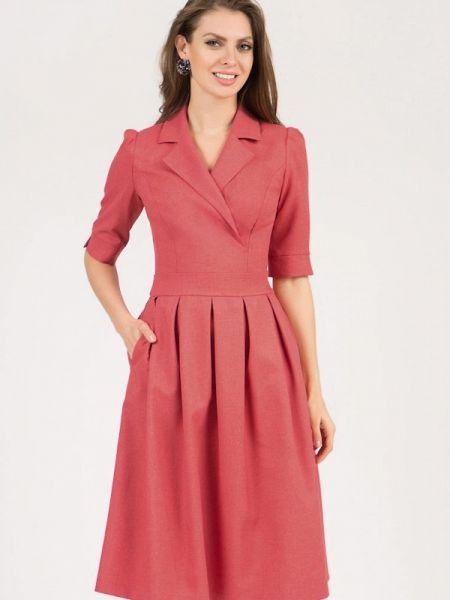 Платье розовое с запахом Olivegrey