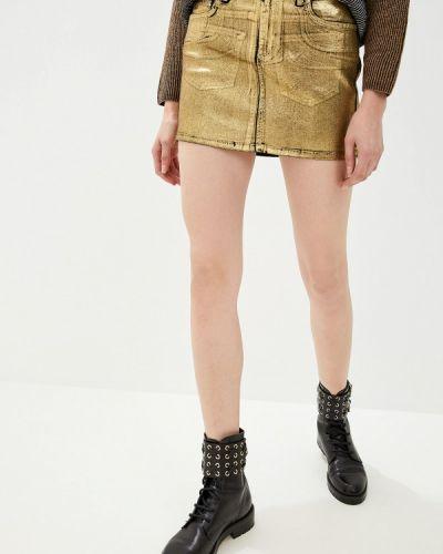 Джинсовая юбка турецкий золотой Liu Jo