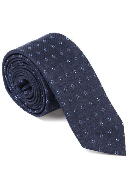 Шелковый галстук - синий Boss