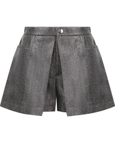 Короткие шорты серебряного цвета Chloé