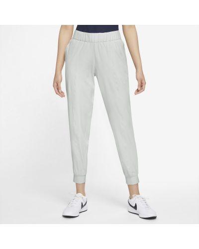 Szare spodnie w kratę Nike