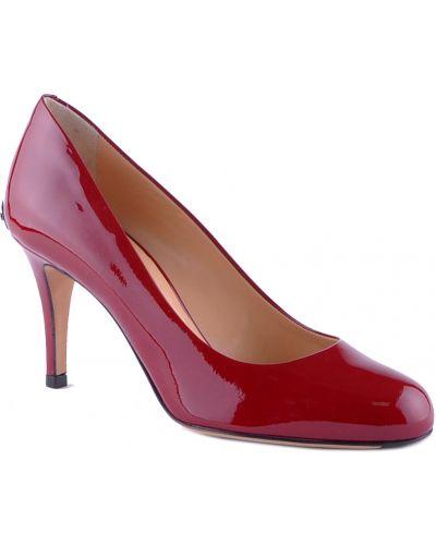 Кожаные туфли - бордовые Ballin