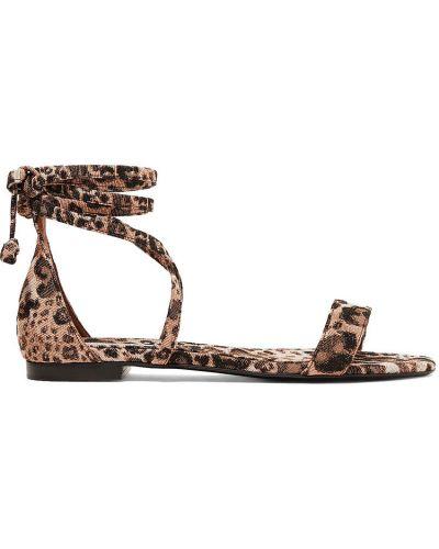 Sandały skorzane z printem Tabitha Simmons