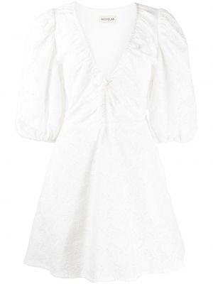 Платье мини короткое - белое Nicholas