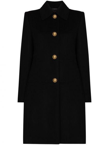 Однобортное черное кашемировое пальто Givenchy
