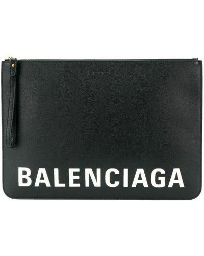 Złota kopertówka - czarna Balenciaga