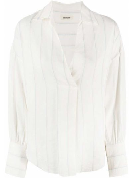 Белая блузка с воротником из вискозы Zadig&voltaire