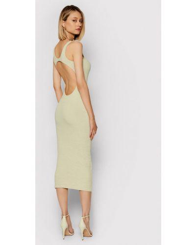 Beżowa sukienka casual Remain