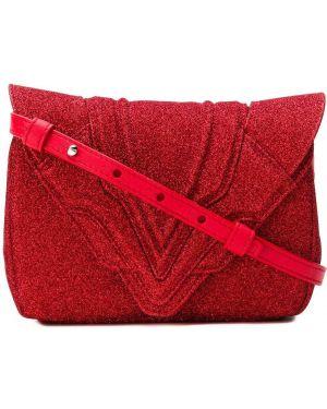 Красная маленькая сумка с пайетками Elena Ghisellini