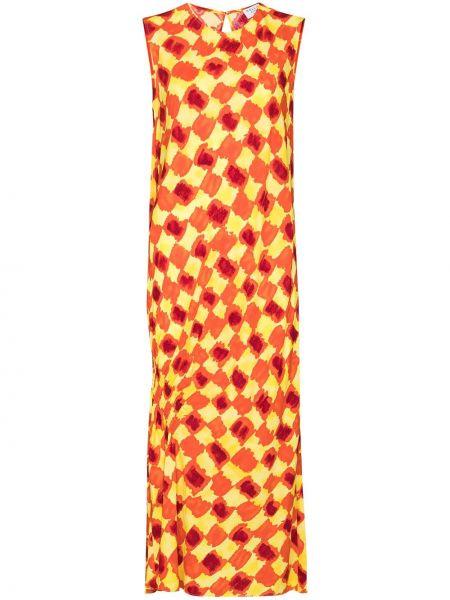 Pomarańczowy sukienka midi Collina Strada