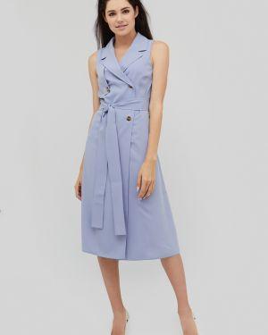 Однобортное приталенное платье миди эластичное Cardo