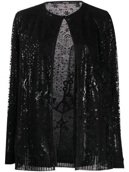 Черная длинная куртка круглая Gianfranco Ferre Pre-owned
