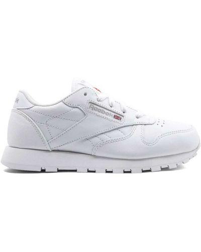 Кожаные белые классические кожаные кроссовки с заплатками Reebok Kids