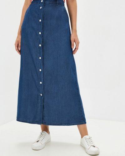 Свободная расклешенная синяя джинсовая юбка Finn Flare