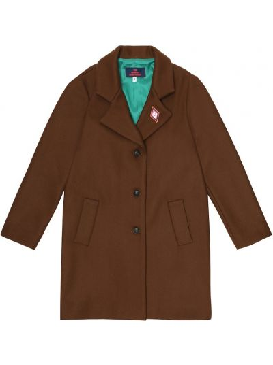 Klasyczny brązowy płaszcz wełniany The Animals Observatory