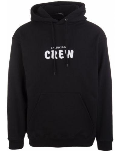 Bawełna czarny sweter z kapturem Balenciaga
