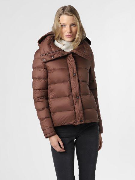 Brązowa ciepła kurtka z nylonu Marie Lund