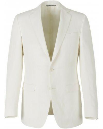 Biały garnitur z jedwabiu Canali