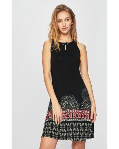 Платье мини из вискозы однотонное Desigual