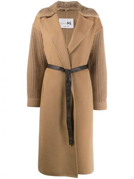 Прямое кашемировое пальто классическое с карманами Manzoni 24