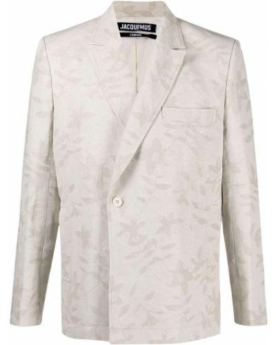 Beżowy garnitur bawełniany z długimi rękawami Jacquemus