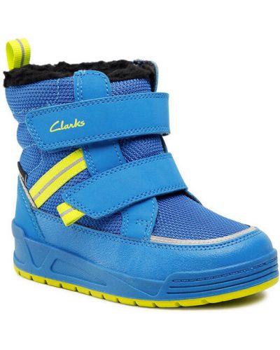 Niebieskie śniegowce Clarks