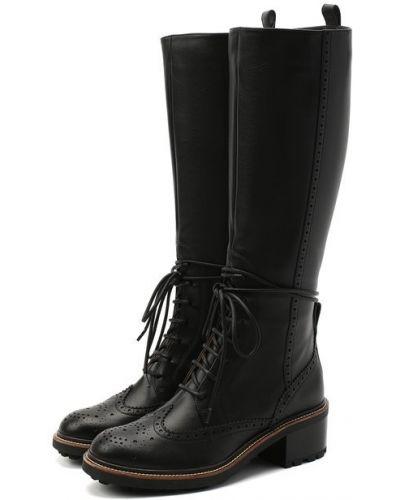 Кожаные сапоги с подкладкой до середины колена Chloé