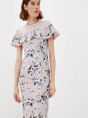 Прямое розовое платье А-силуэта Profito Avantage