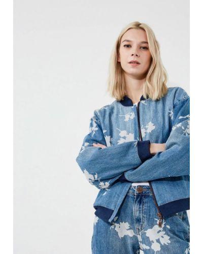 Голубая джинсовая куртка One Teaspoon